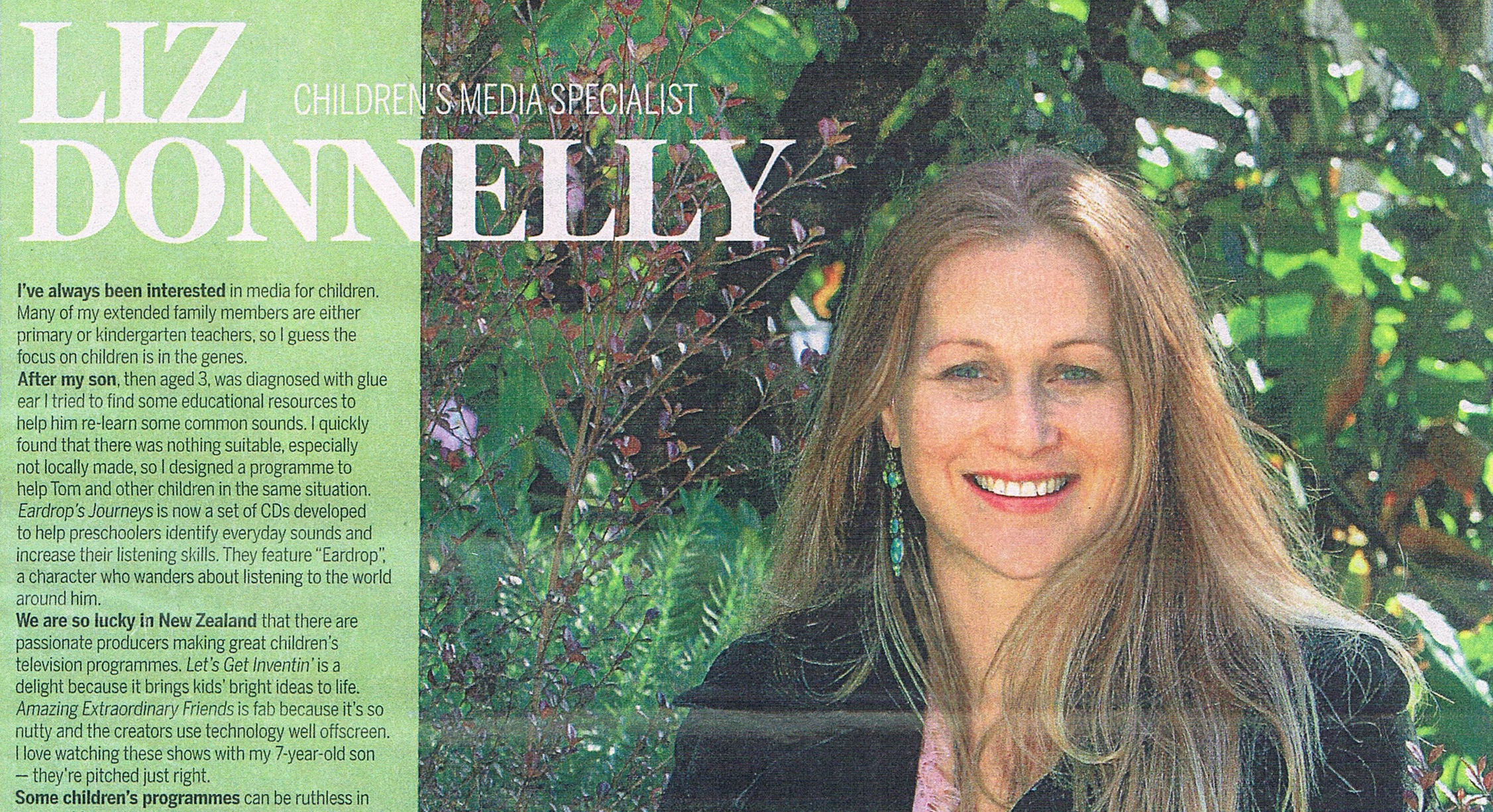 Liz Donnelly profile article in NZ Herald
