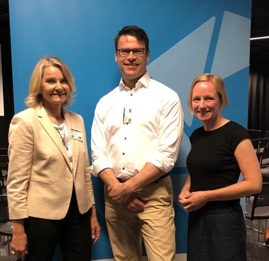 Lisbeth Smestad (REN & Innovasjon Norge), Mats Kristensen (Leadership Weekly) og Hege Tollerud (Oslo EdTech)
