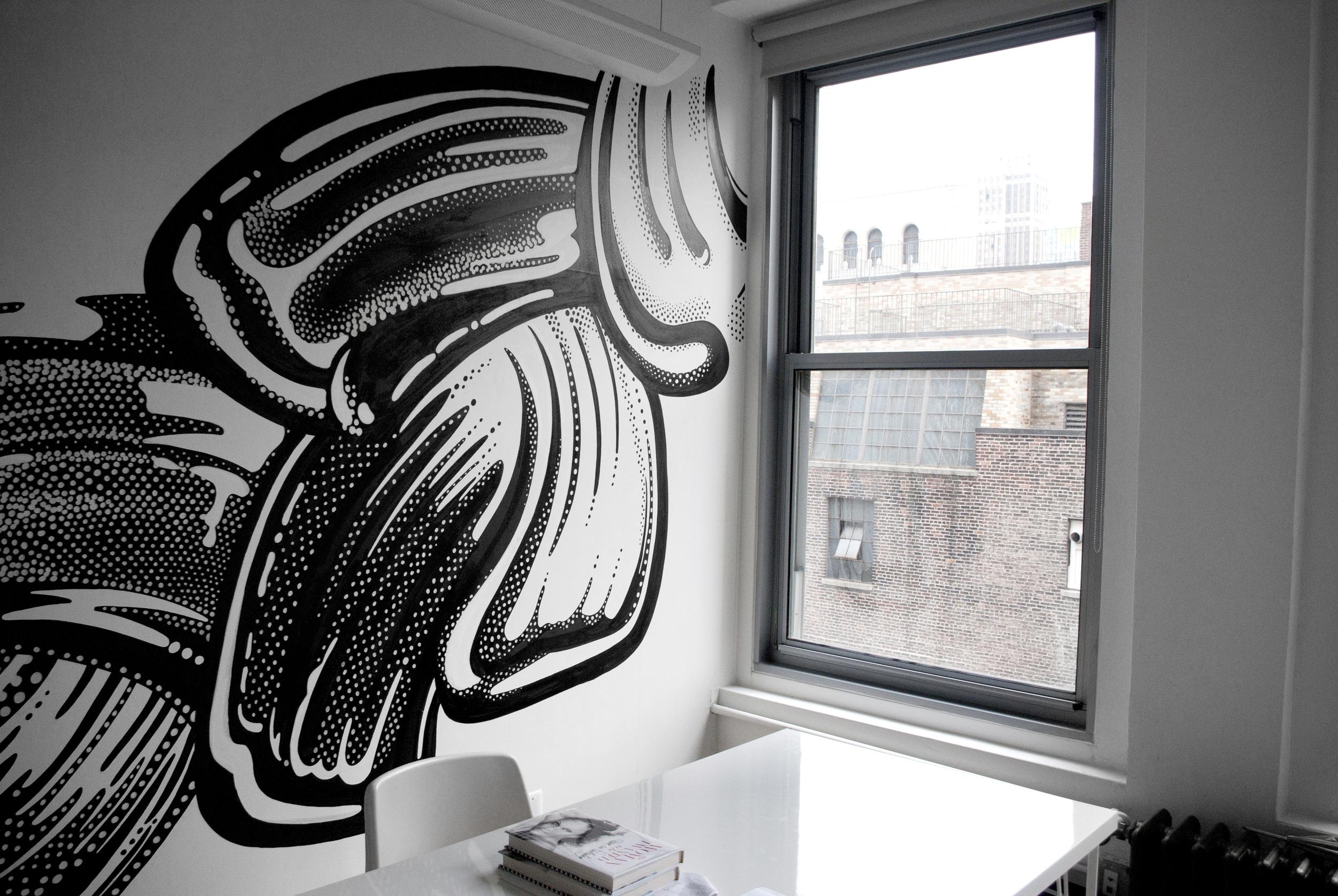 amandine delaunay claire-lise bengué fresque bureau illustration cosmétique gloss vernis beauty lab new york manhattan