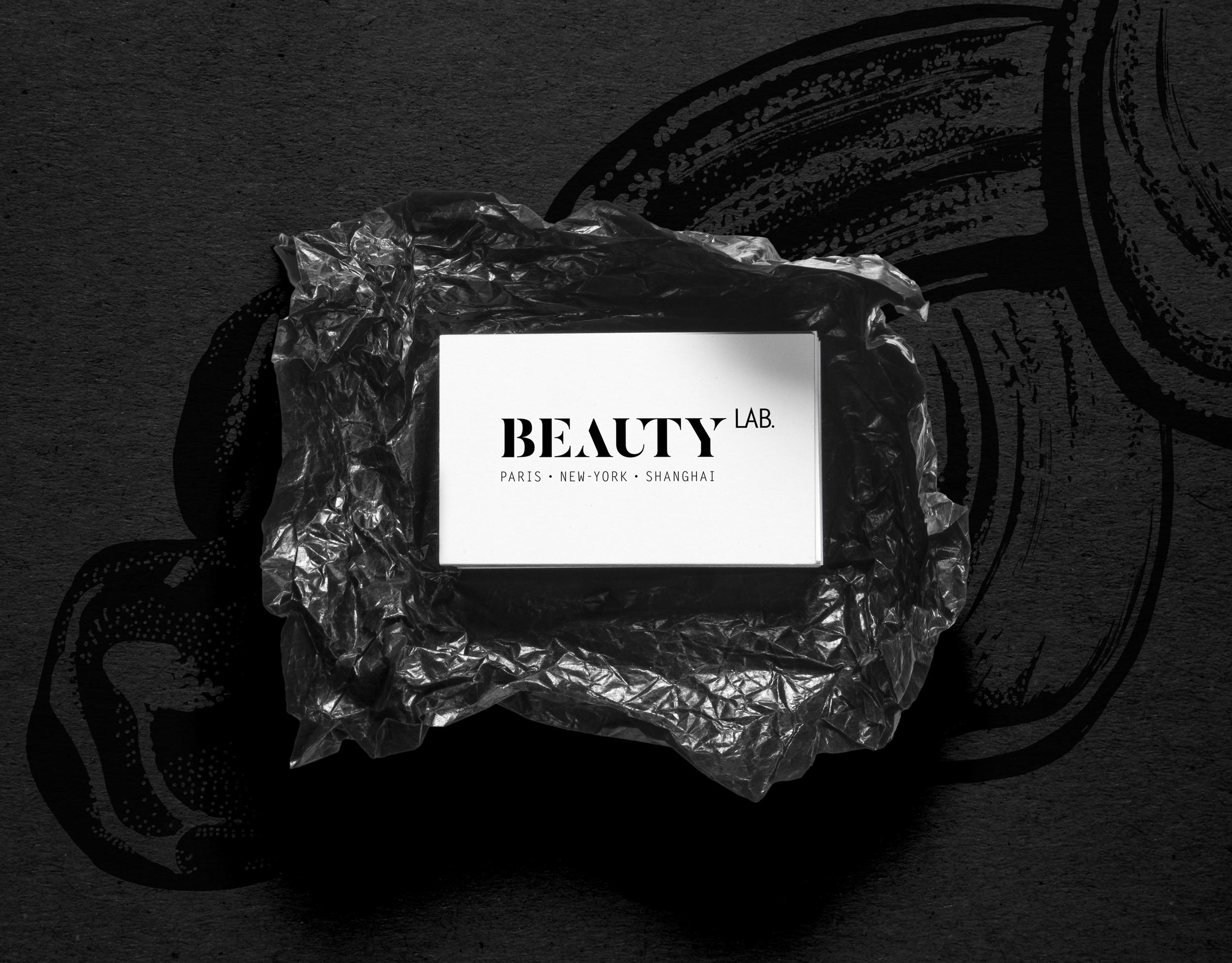 amandine delaunay claire-lise bengué direction artistique identité logo businee cards beauty lab new york manhattan
