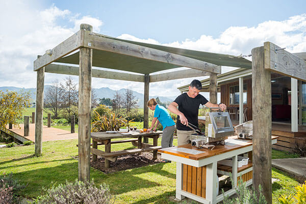 BBQ Area – Eden's Edge Lodge