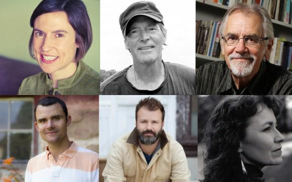 Top: Erika Janik, John Hildebrand,Max Garland. Bottom: BJ Hollars,Nickolas Butler,Kimberly Blaeser.