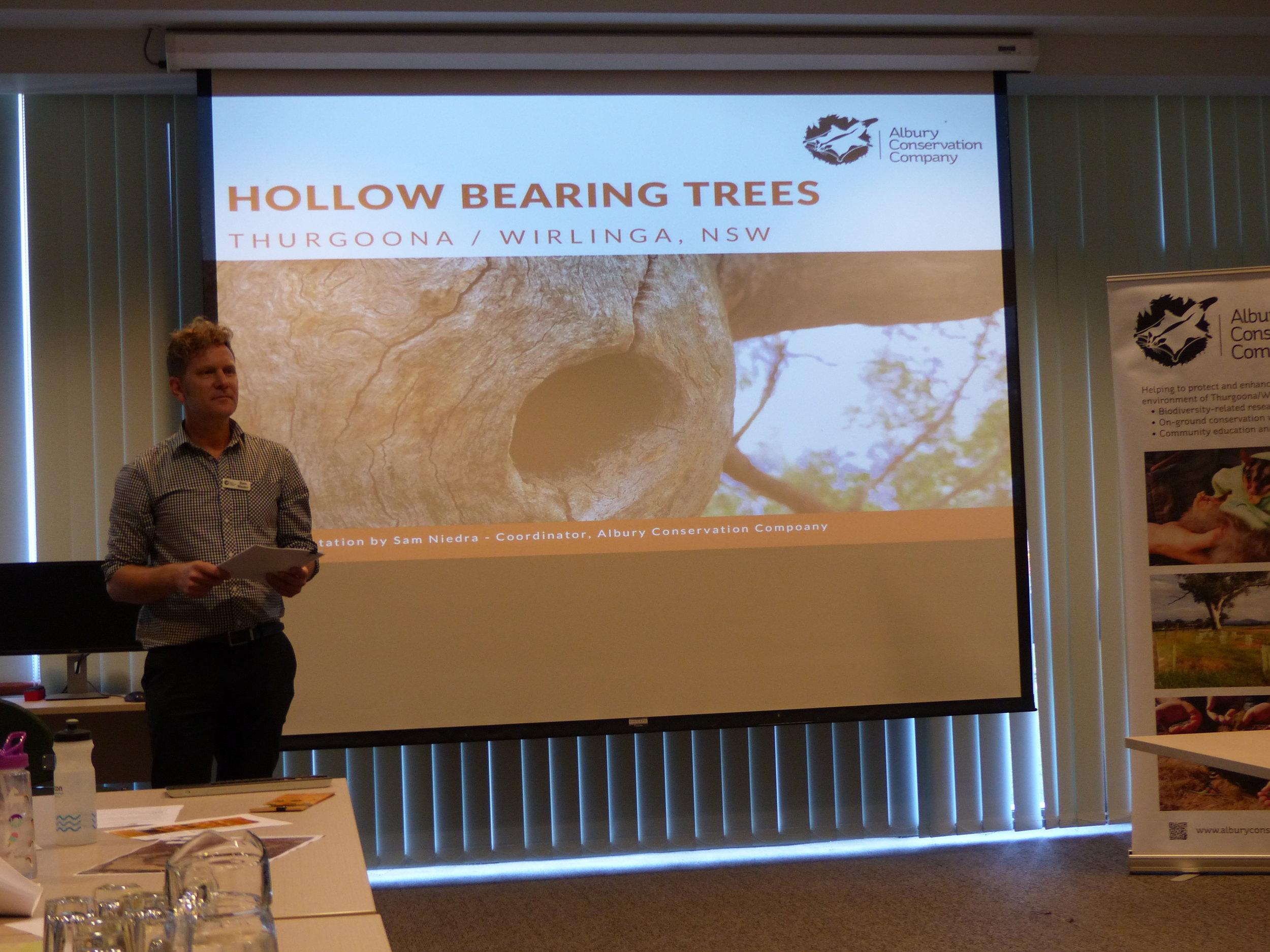 Hollow bearing tree Workshop_Presentation_Sam Niedra_Albury Conservation Company_28thFeb2018.JPG