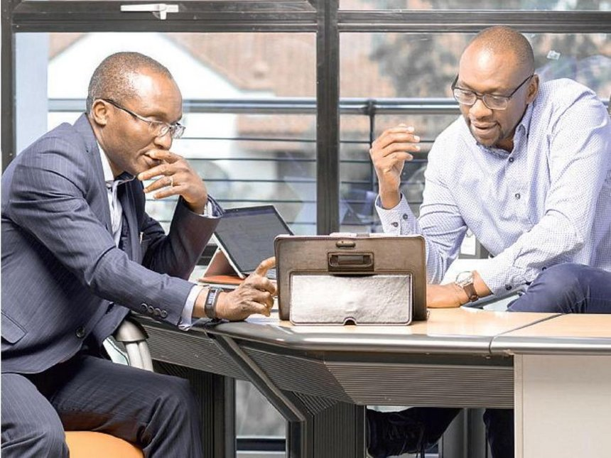 Cellulant Co-founders Bolaji Akinboro (left) and Ken Njoroge (right)