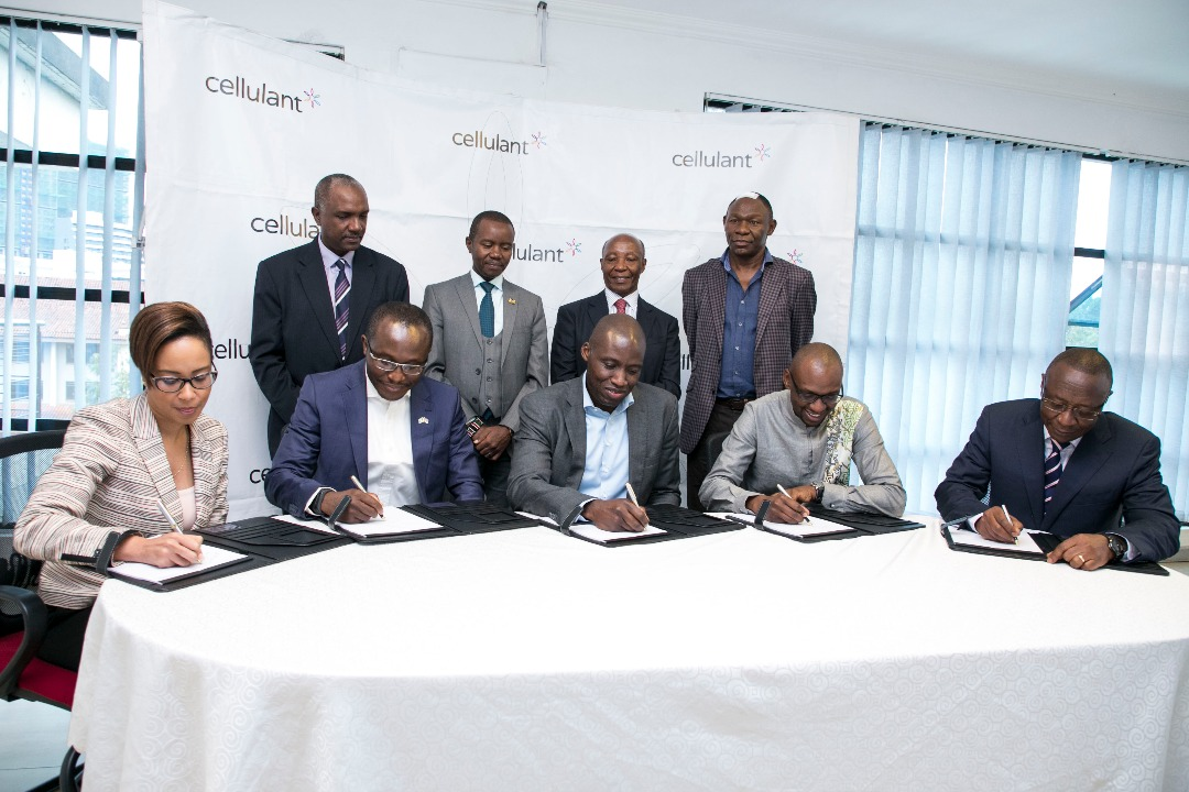Cellulant Co-Founders & the TPG Rise Fund investors at the signing