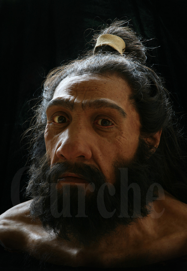 Neandertal male, based on Shanidar 1, discovered in Iraq.