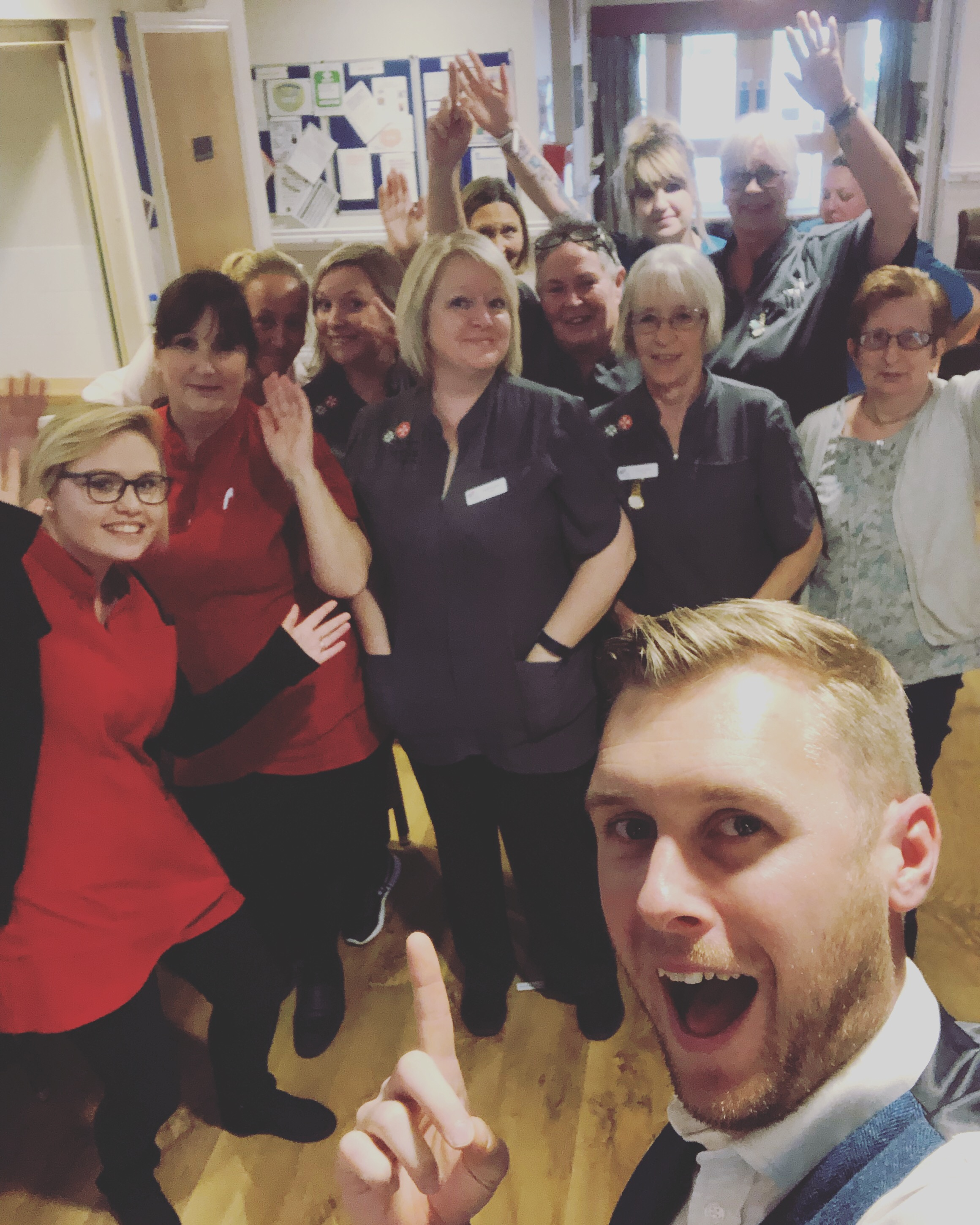 Our Clinic Director, Dr Matt Scroggs (Chiropractor) and the nursing team at Spencer Court