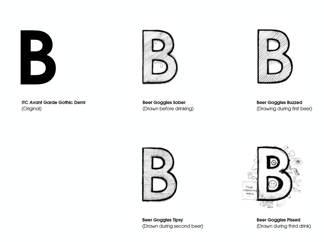 Cleaned up letterforms