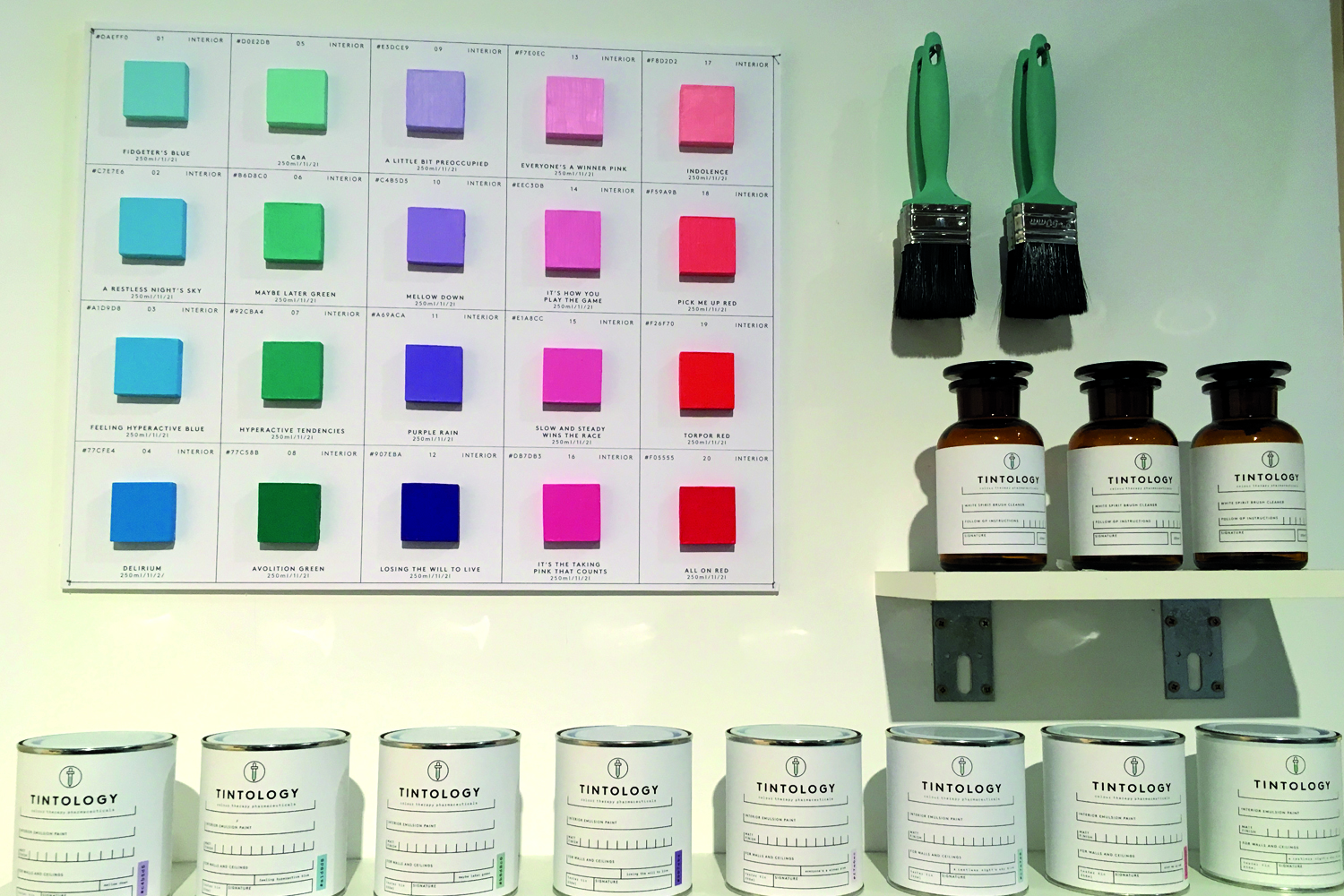 Tintology by Alice Dobbie was an interesting exploration into a fictitious, therapeutic paint colour brand which based on colour psychology and theory. Find out more  here.