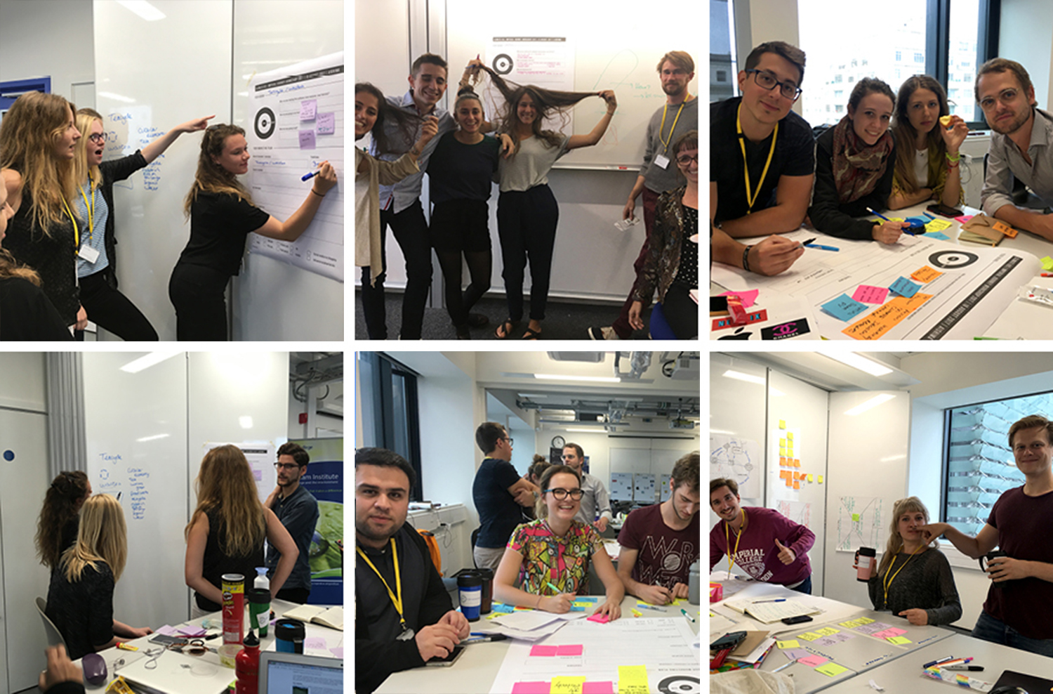 Some pics from the teams and their project ideas