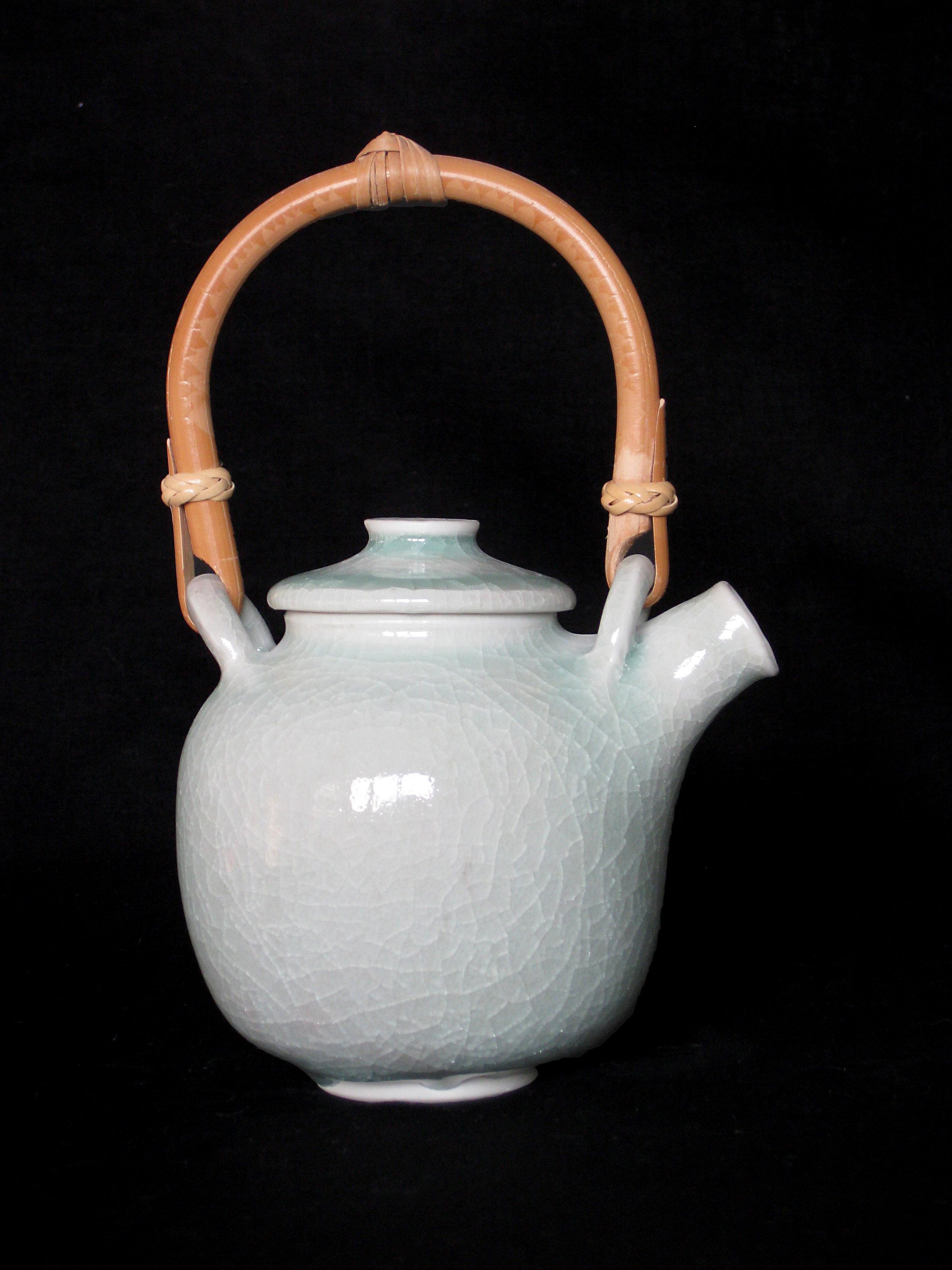 théière en porcelaine, celadon