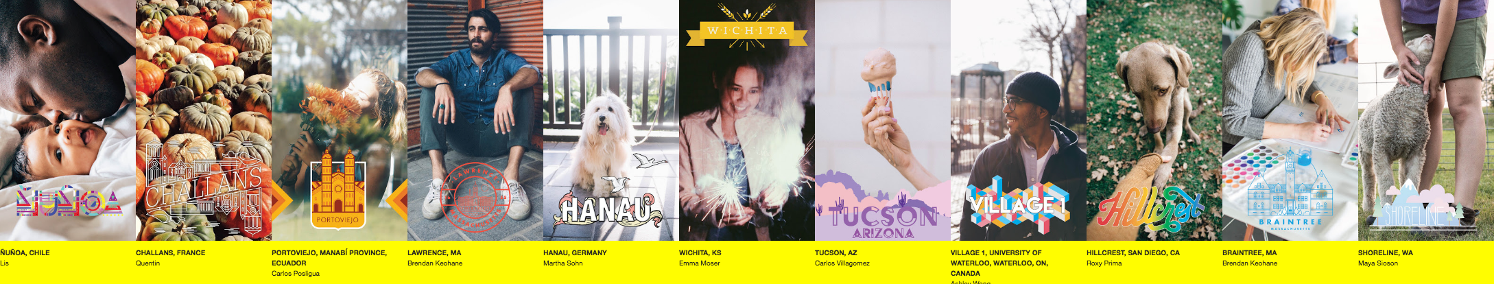 Examples of some created Geofilters (currently live on Snapchat)