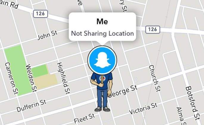 How your avatar will appear on Snap Map with  Ghost Mode  turned on