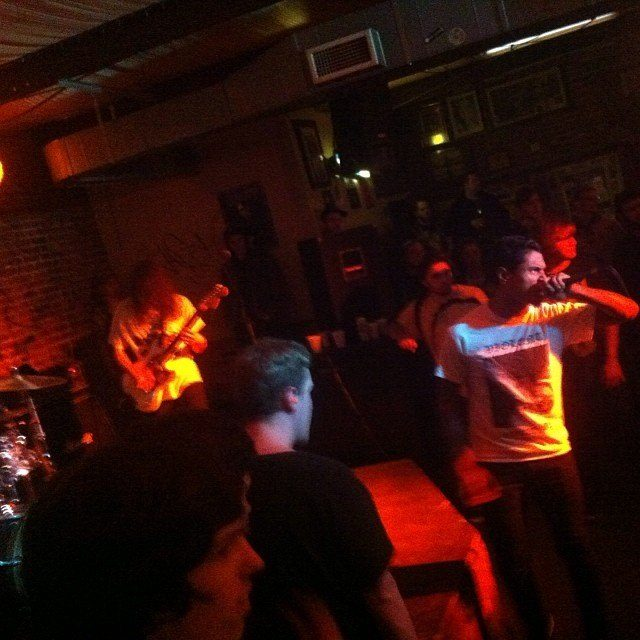 Jon and Corey of Laughing Sword performing with a previous effort, Deism.