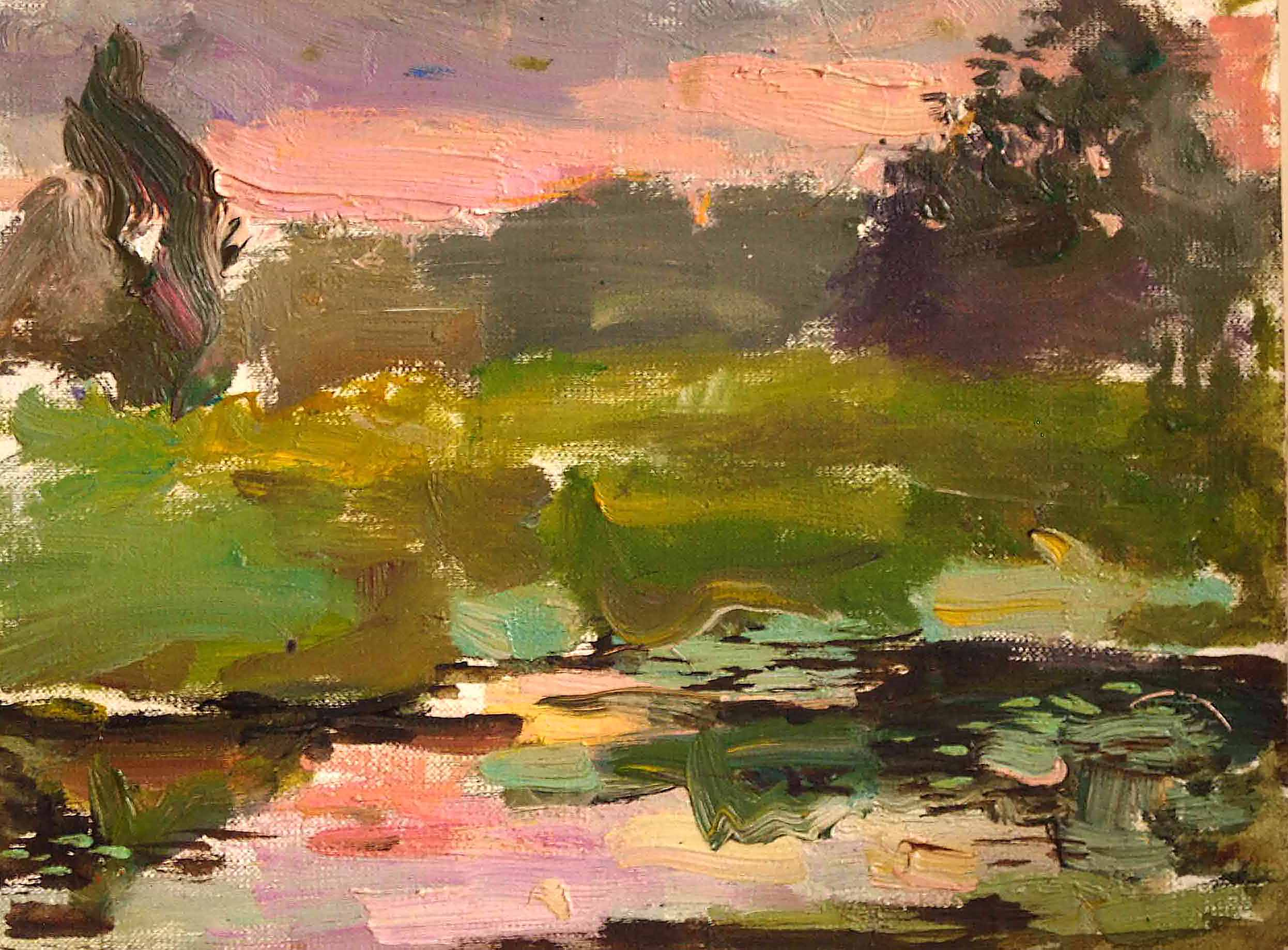 Sunset on marsh