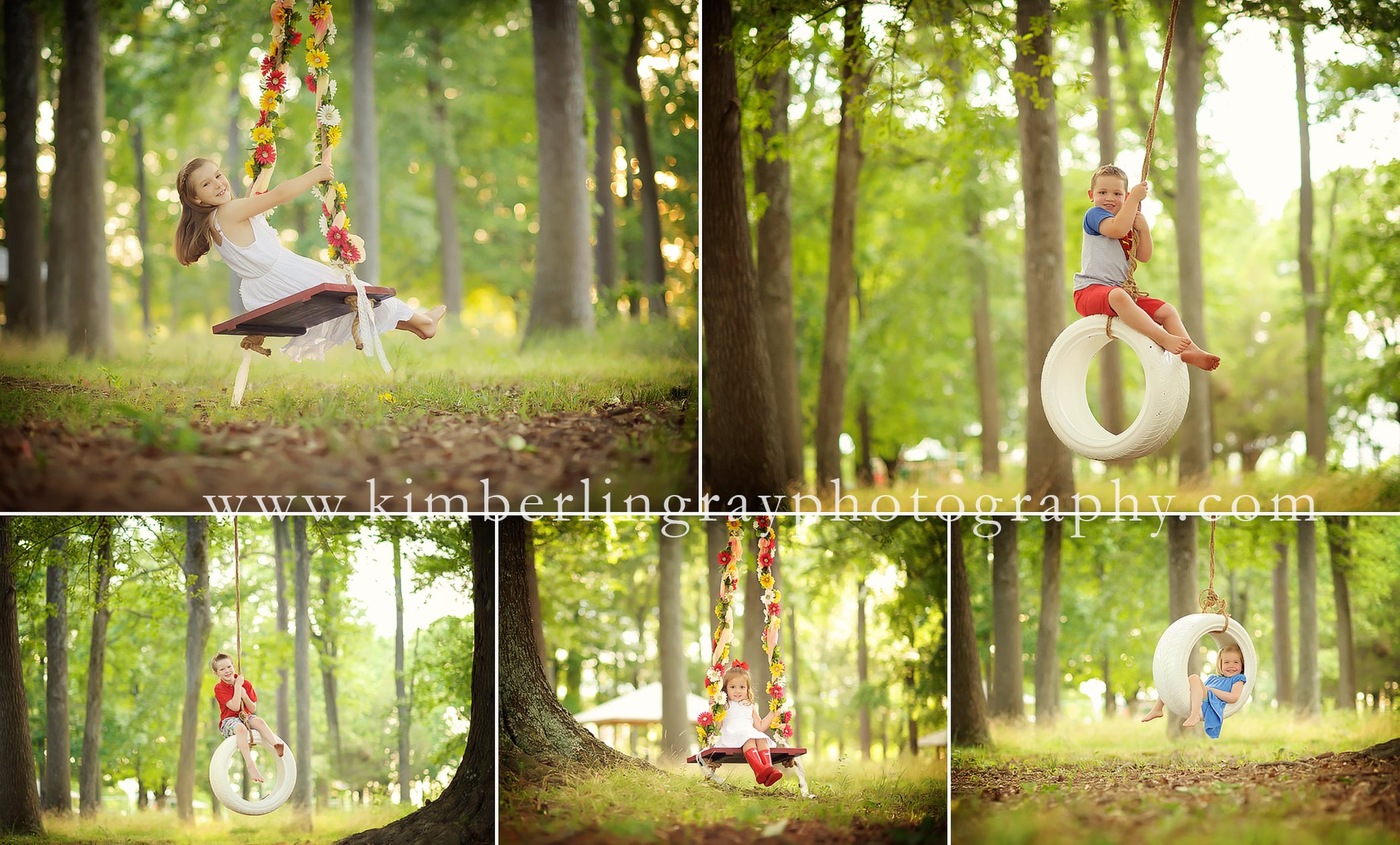 Kids on Swings | Tire Swing Pictures | Virginia Beach Children Photographer
