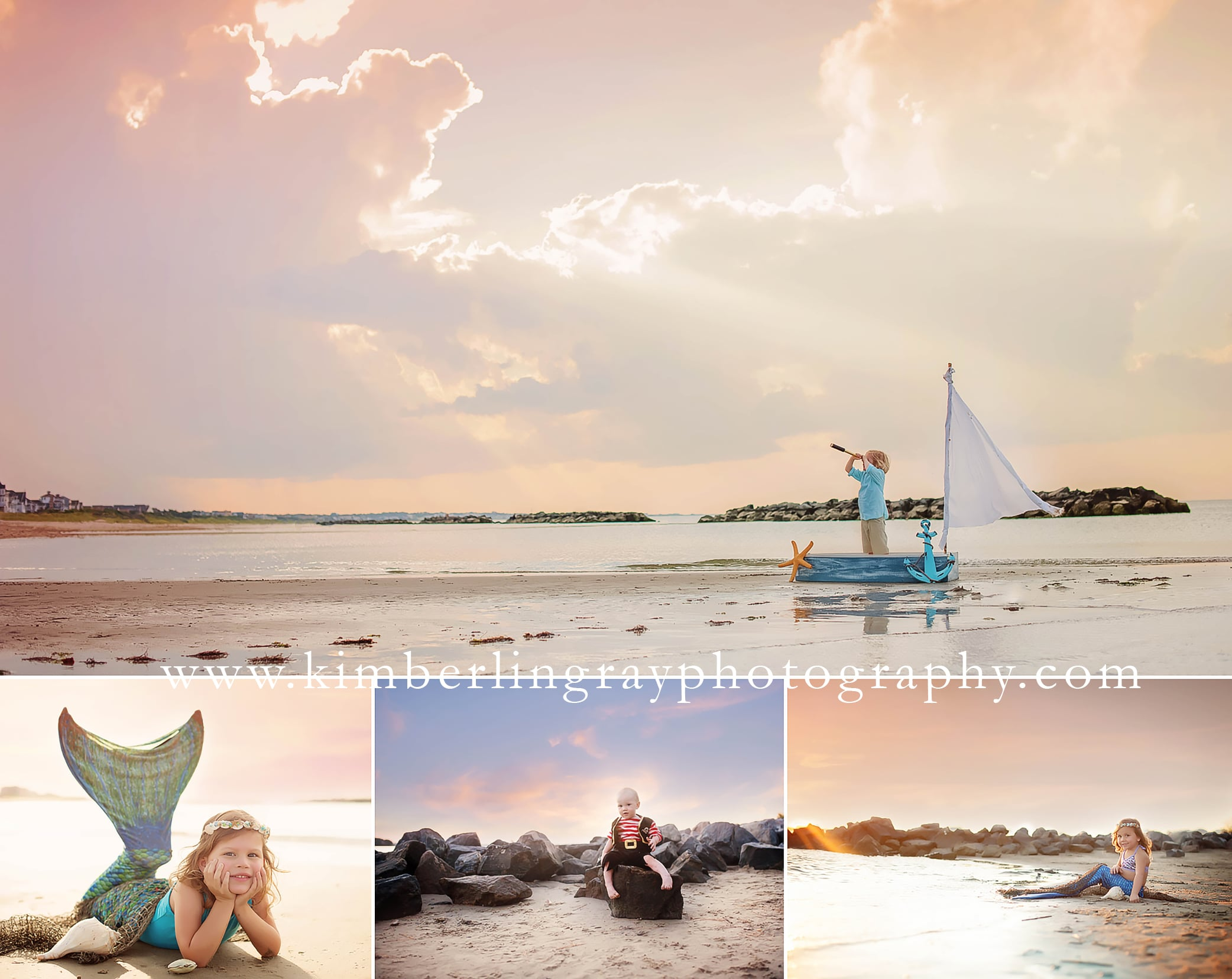 Seashore and Mermaid Photos | Virginia Child Photographer