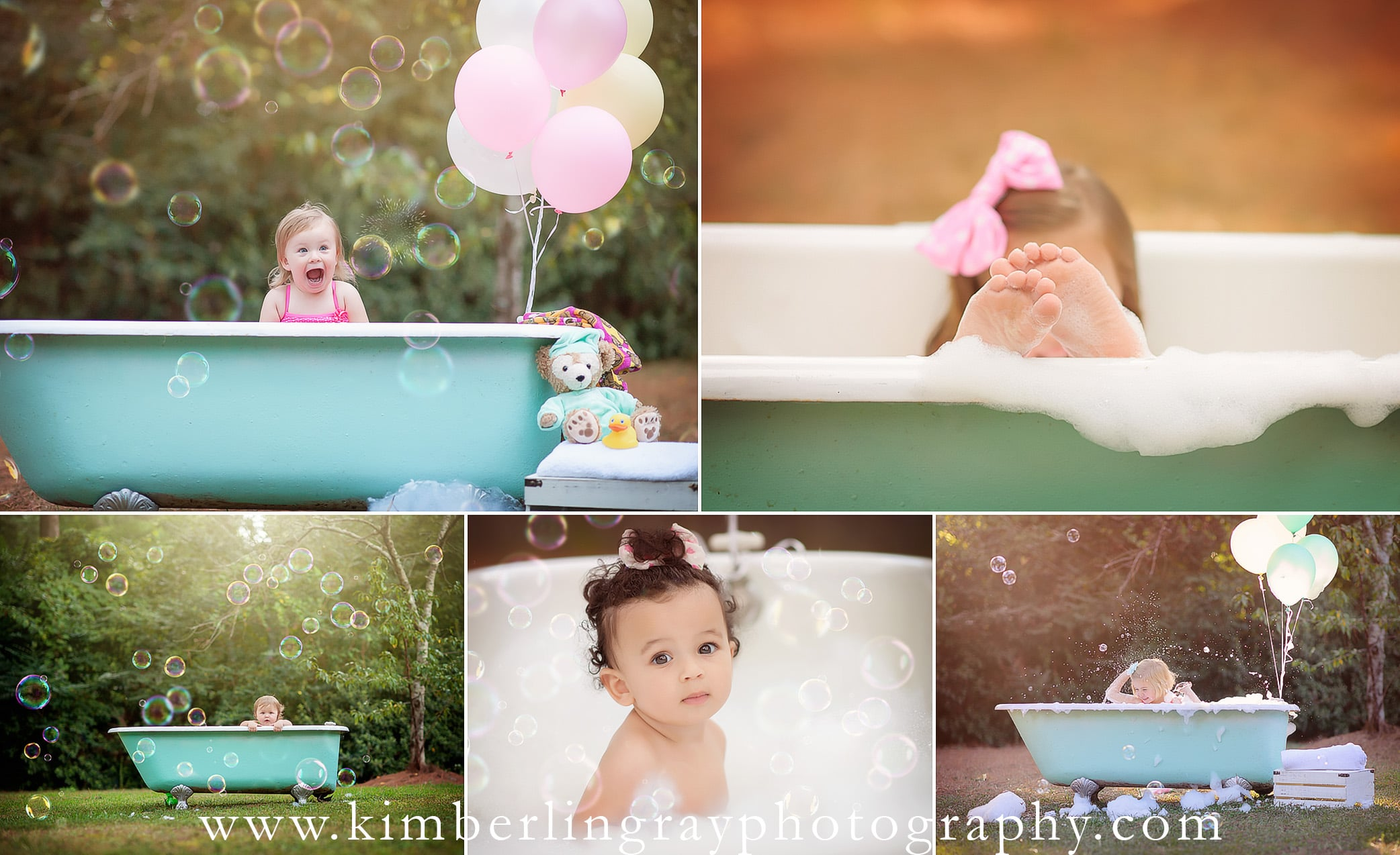 Bubble Bath | Bubble Minisession | Virginia Beach Kid Photo