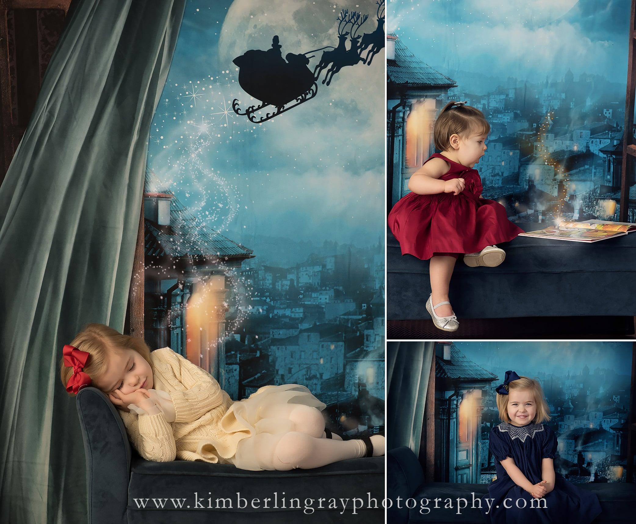 Night Before Christmas Photo | Creative Christmas Pictures | Virginia Beach Photography Studio