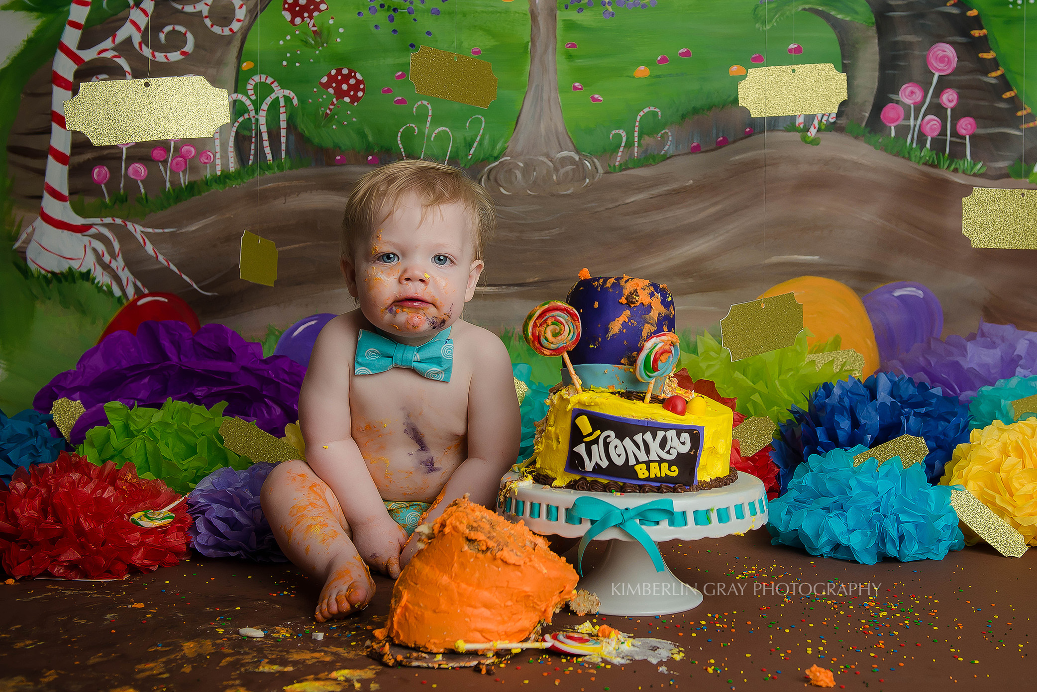 Candy 1st Birthday Cake Smash Norfolk Virginia