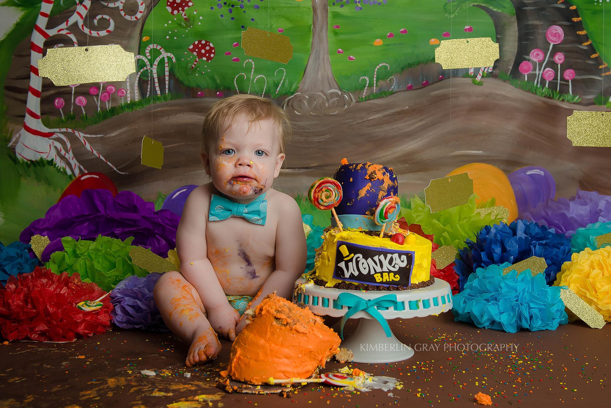 Candy 1st Birthday Cake Smash Norfolk Virginia