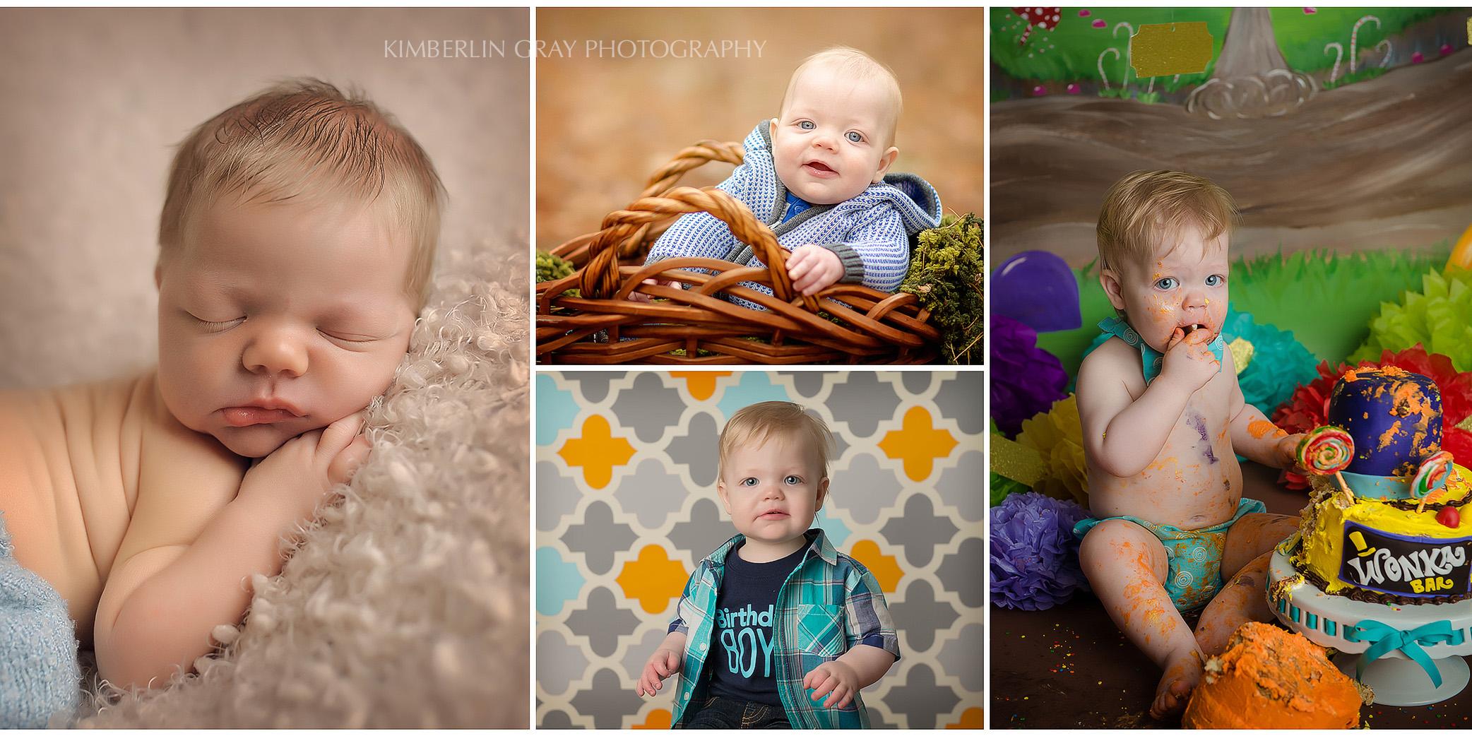 baby first year collage virgnia beach newborn photographer