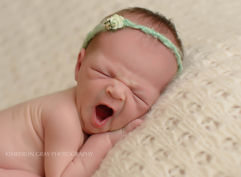 Newborn Yawn Chesapeake Virginia Newborn Photographer