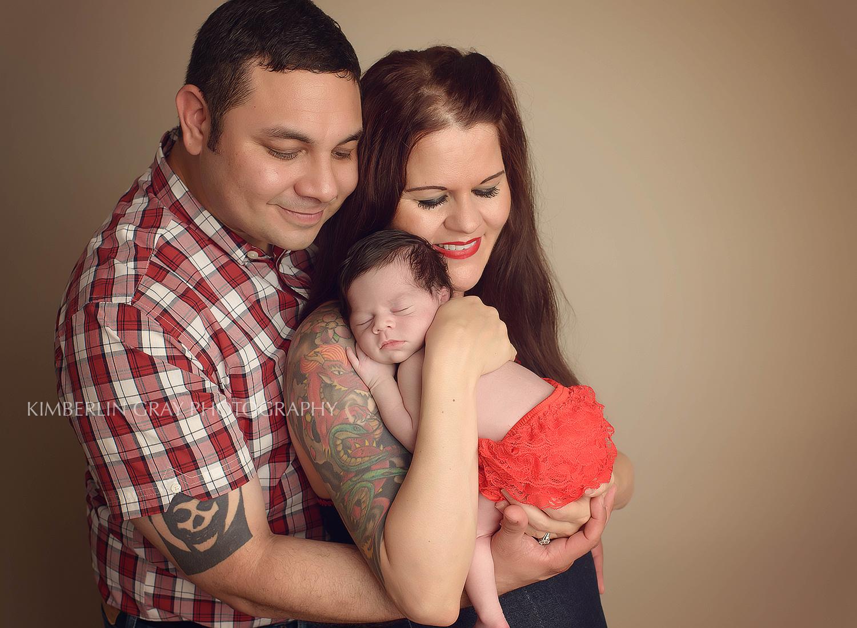 newborn family pose Chesapeake Newborn photographer