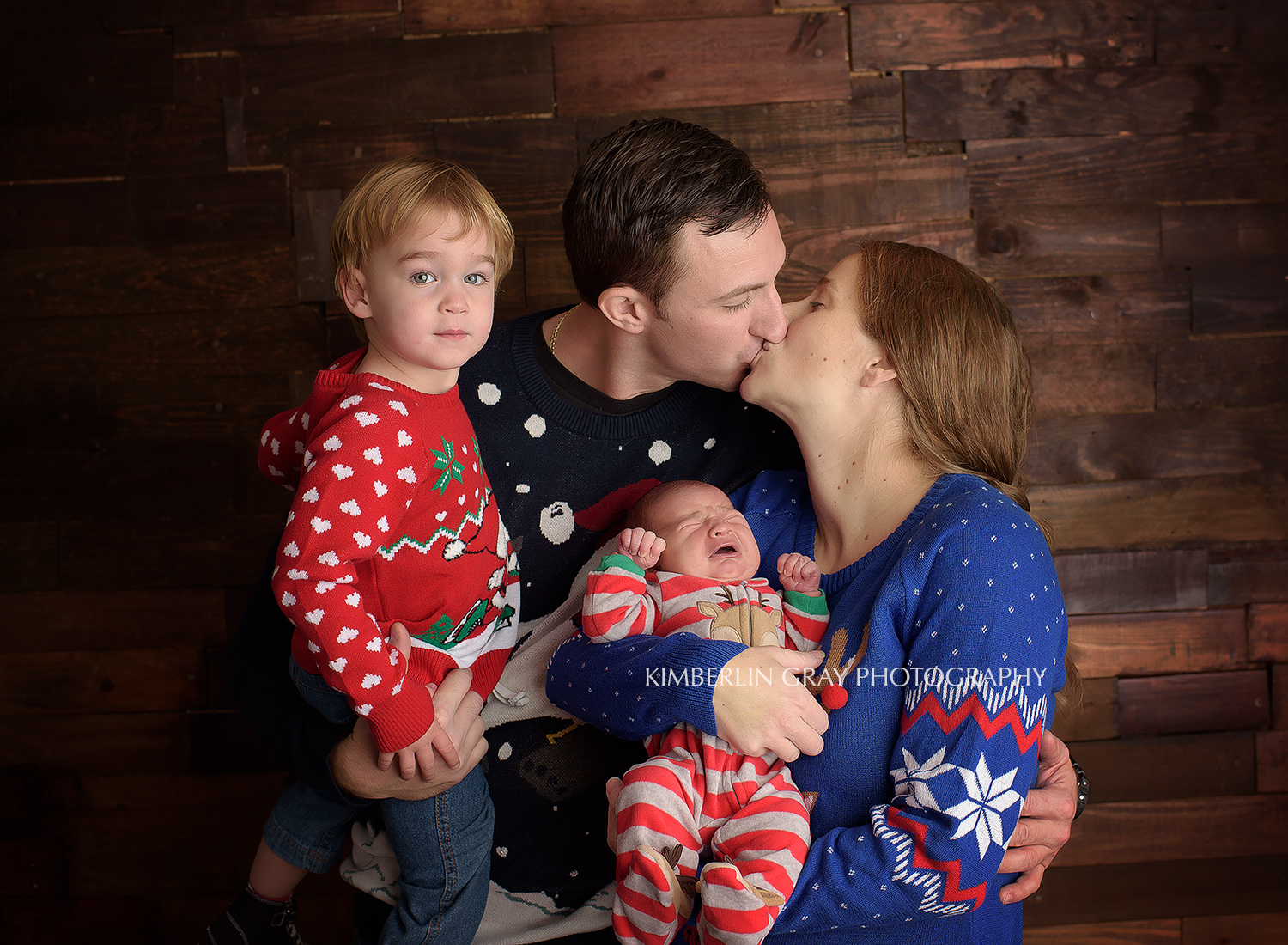 ugly christmas sweater family newborn picture