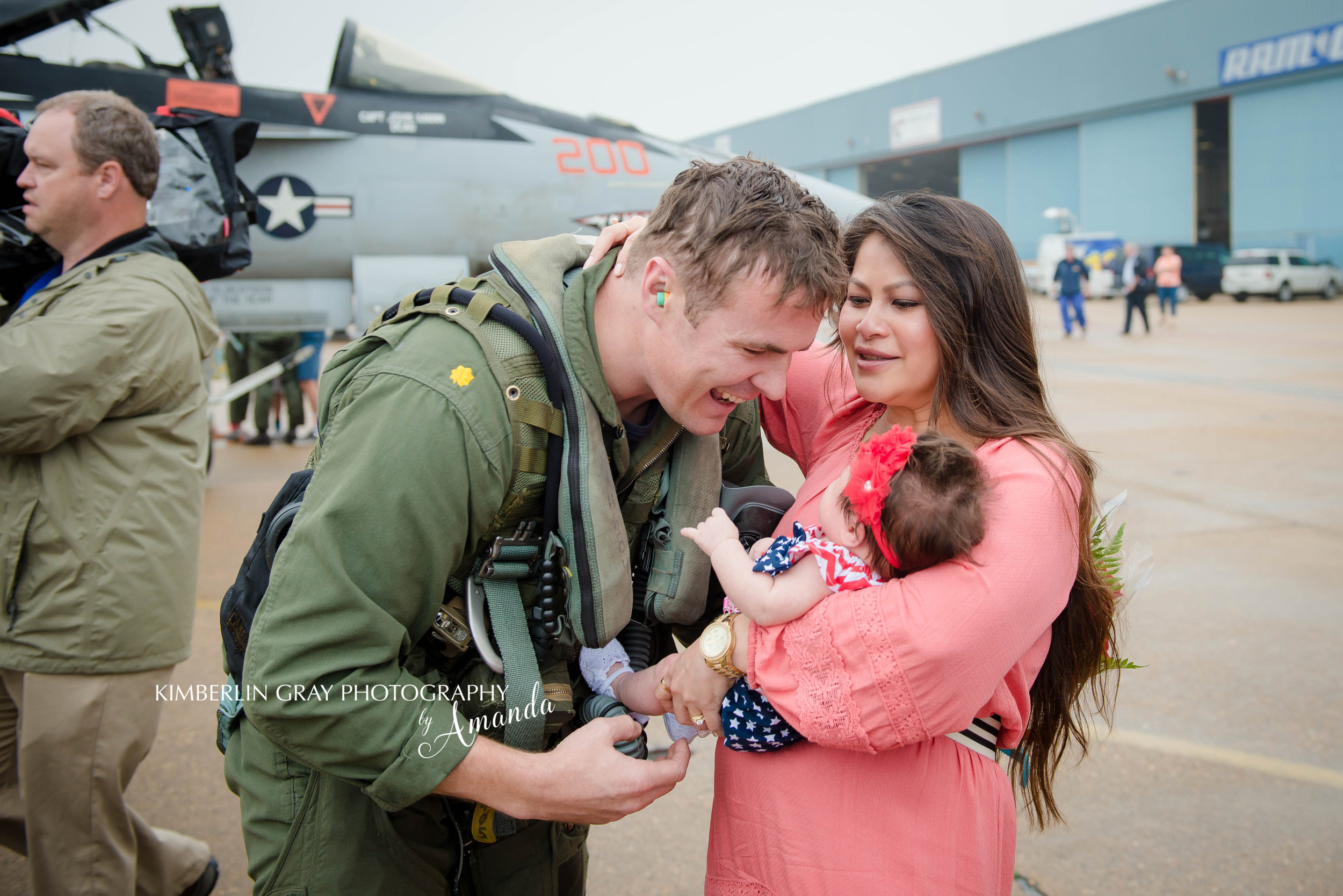 Baby Meets Daddy Navy Pilot Homecoming