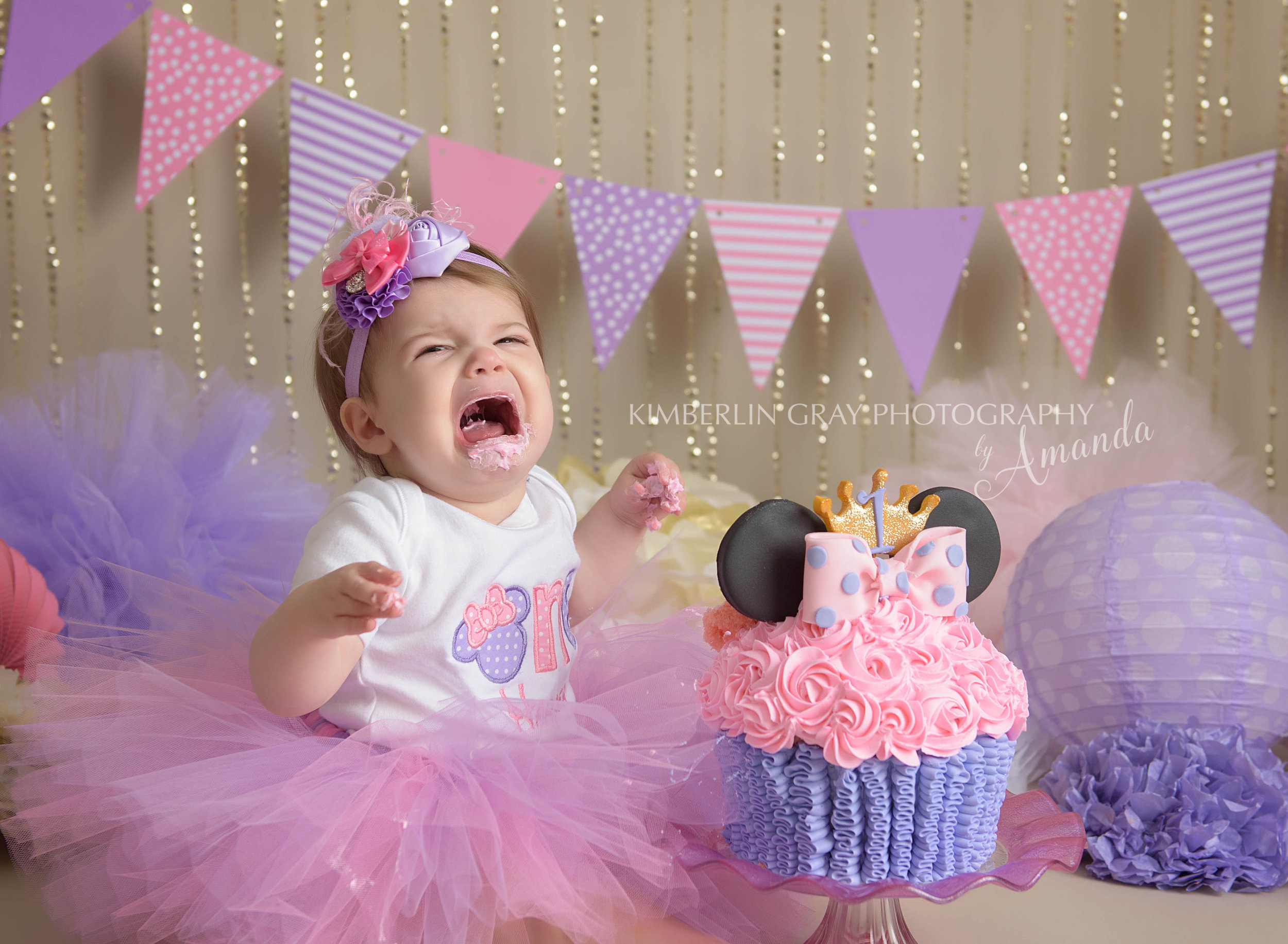 Norfolk Baby Photographer Minnie Mouse Cake Smash