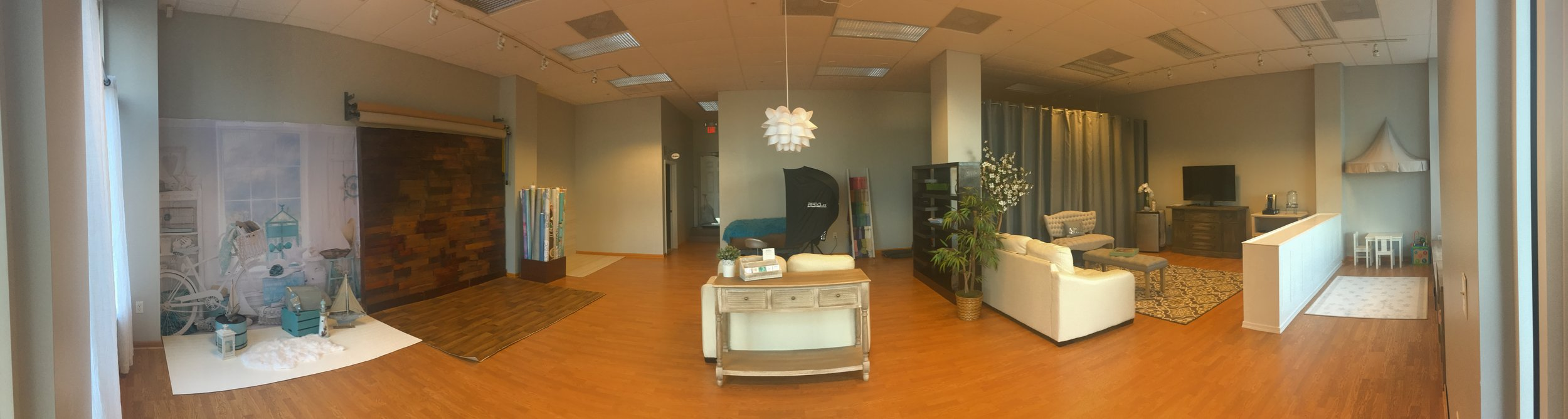 Panoramic image of our new studio!