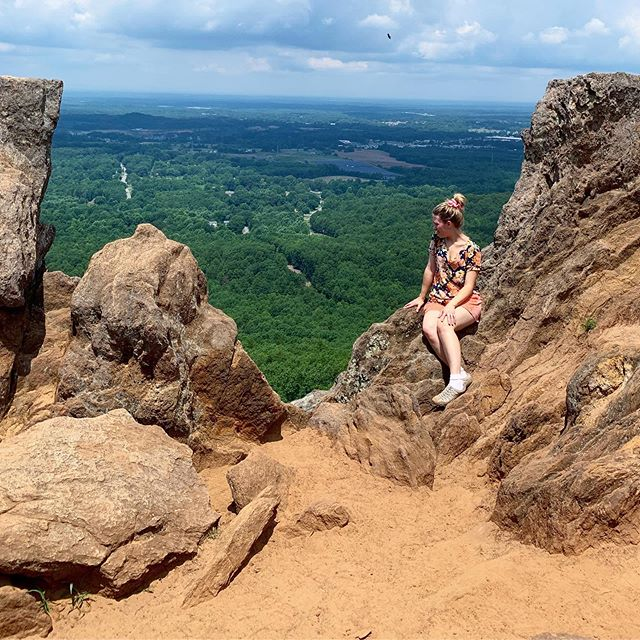 Visited Crowders Mountain today with my brother @digitalpanda213. It was a seriously long hike and we were exhausted by the time we finished lol. This beautiful destination was totally worth it though, kind of like a lot of things in life 😉. #family #nature #hiking #nc #summer
