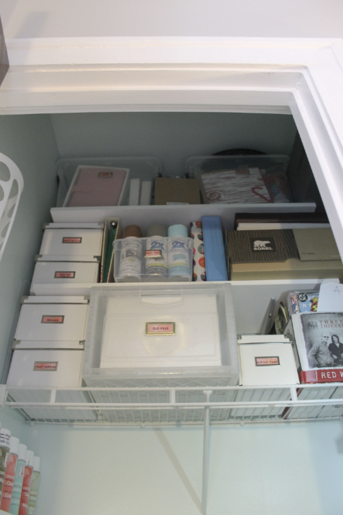 After | Shelving - Craftmade Wire & Track units | File Holder -  Container Store  | Top Containers -  Sterlite
