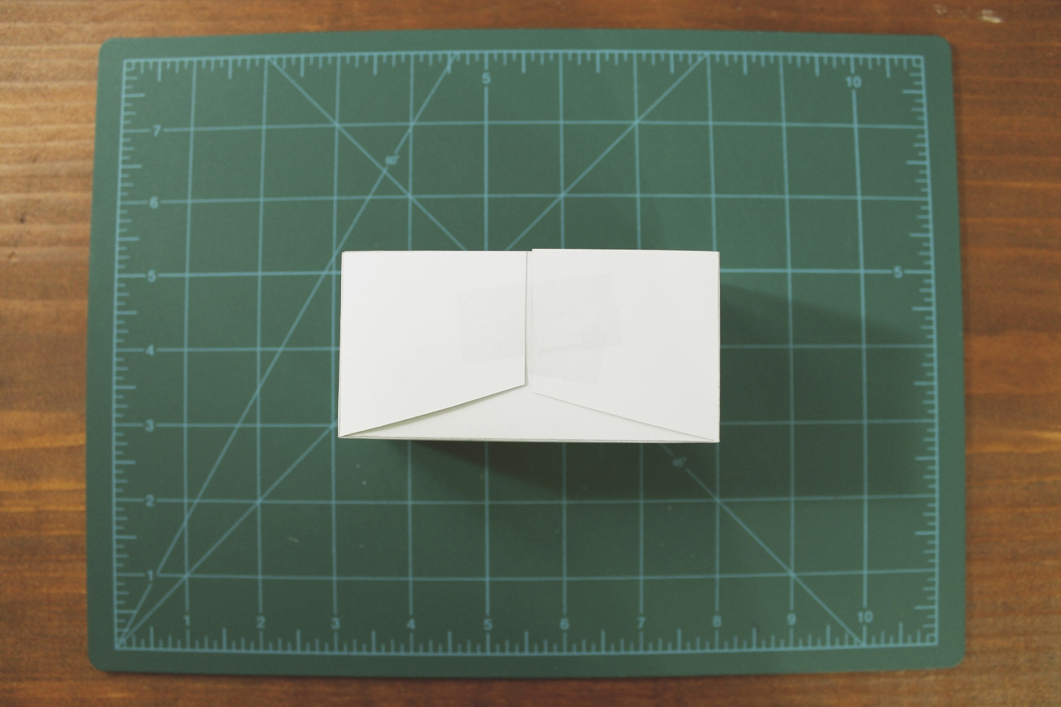 showing the end after it's been folded + taped