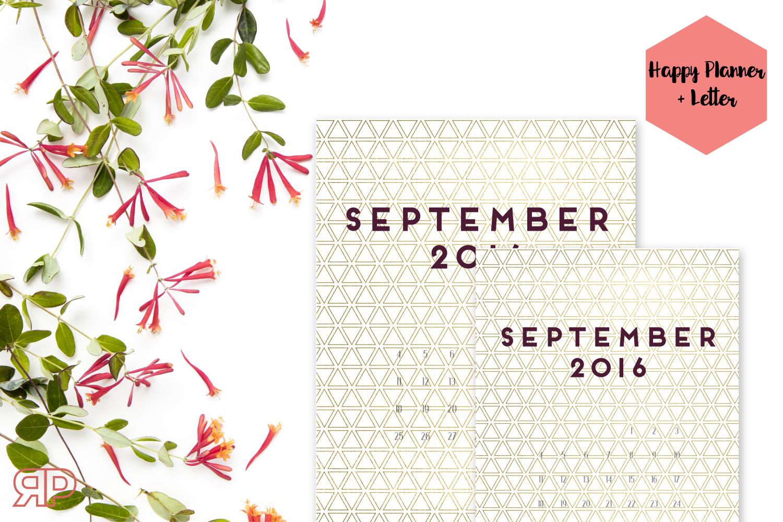 September 2016 Calendar Cover Freebie | Rourke Planners