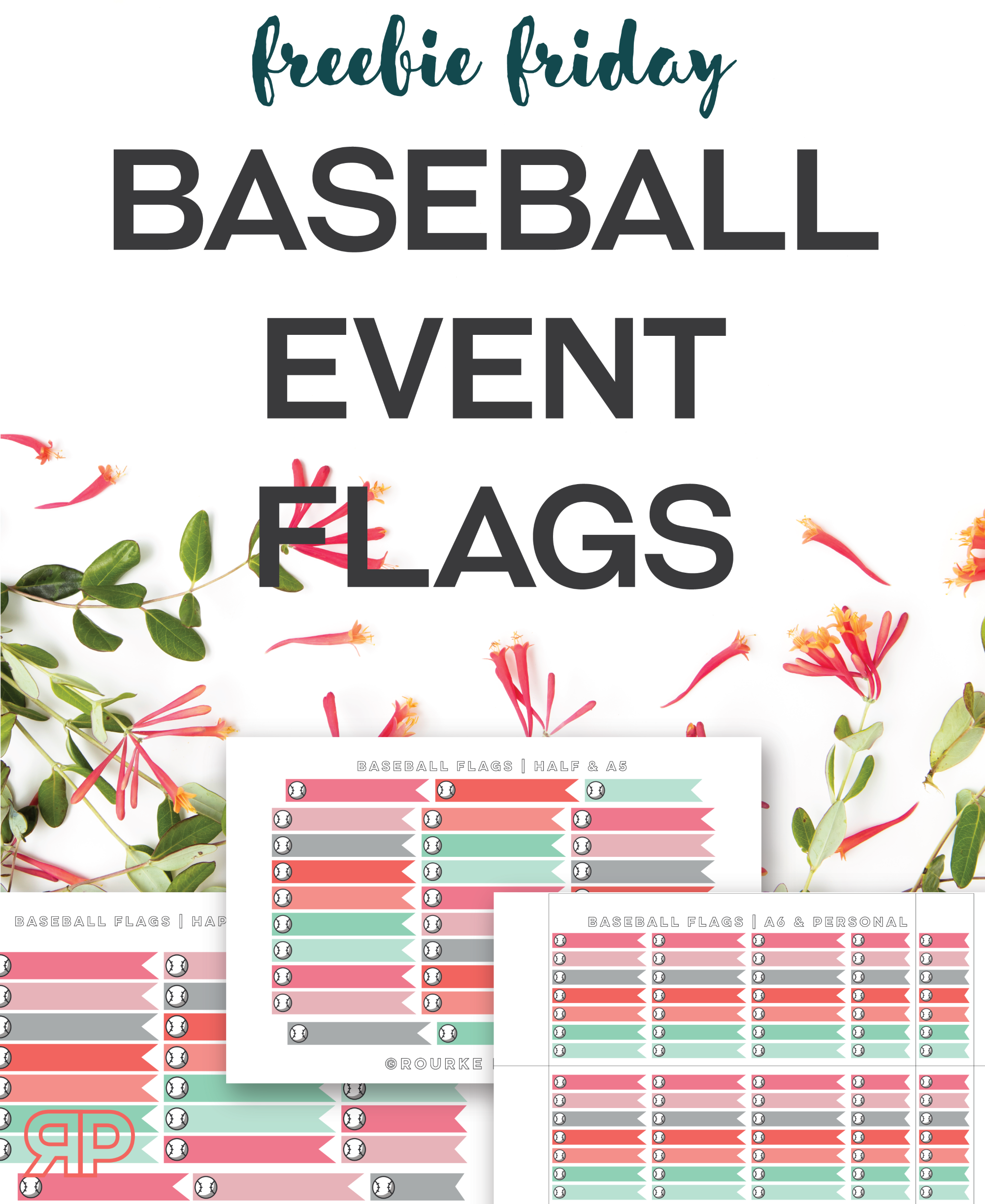 Baseball Event Flags Freebie | Rourke Planners
