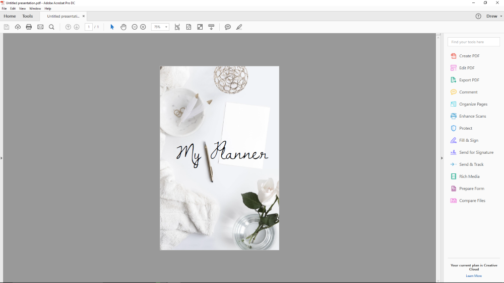 How to Make a PDF From an Image for a Planner Cover | Rourke Planners