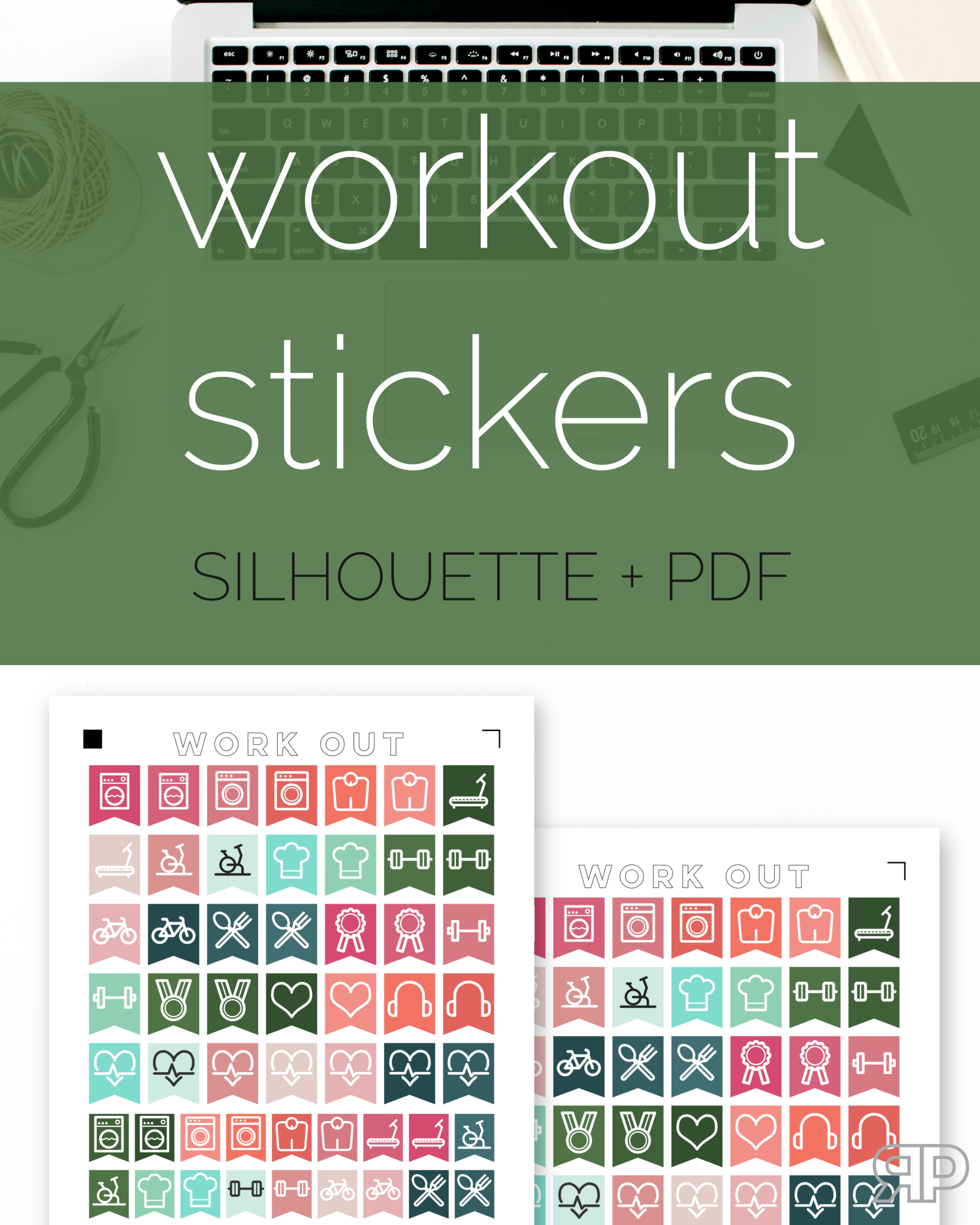 Free Workout Stickers | Rourke Planners