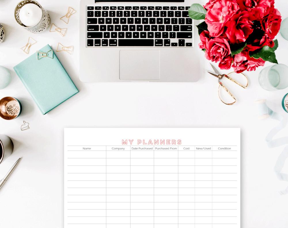 Planner + Organizer List Free Planner Insert | Rourke Planners
