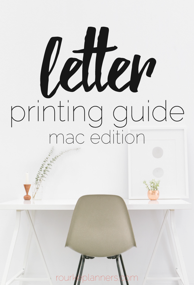 How to Print Letter Size Pages on Mac | Rourke Planners