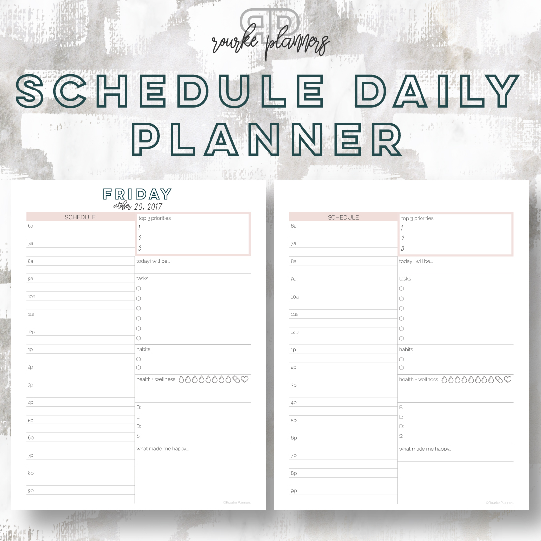 The Schedule Daily Planner | Rourke Planners