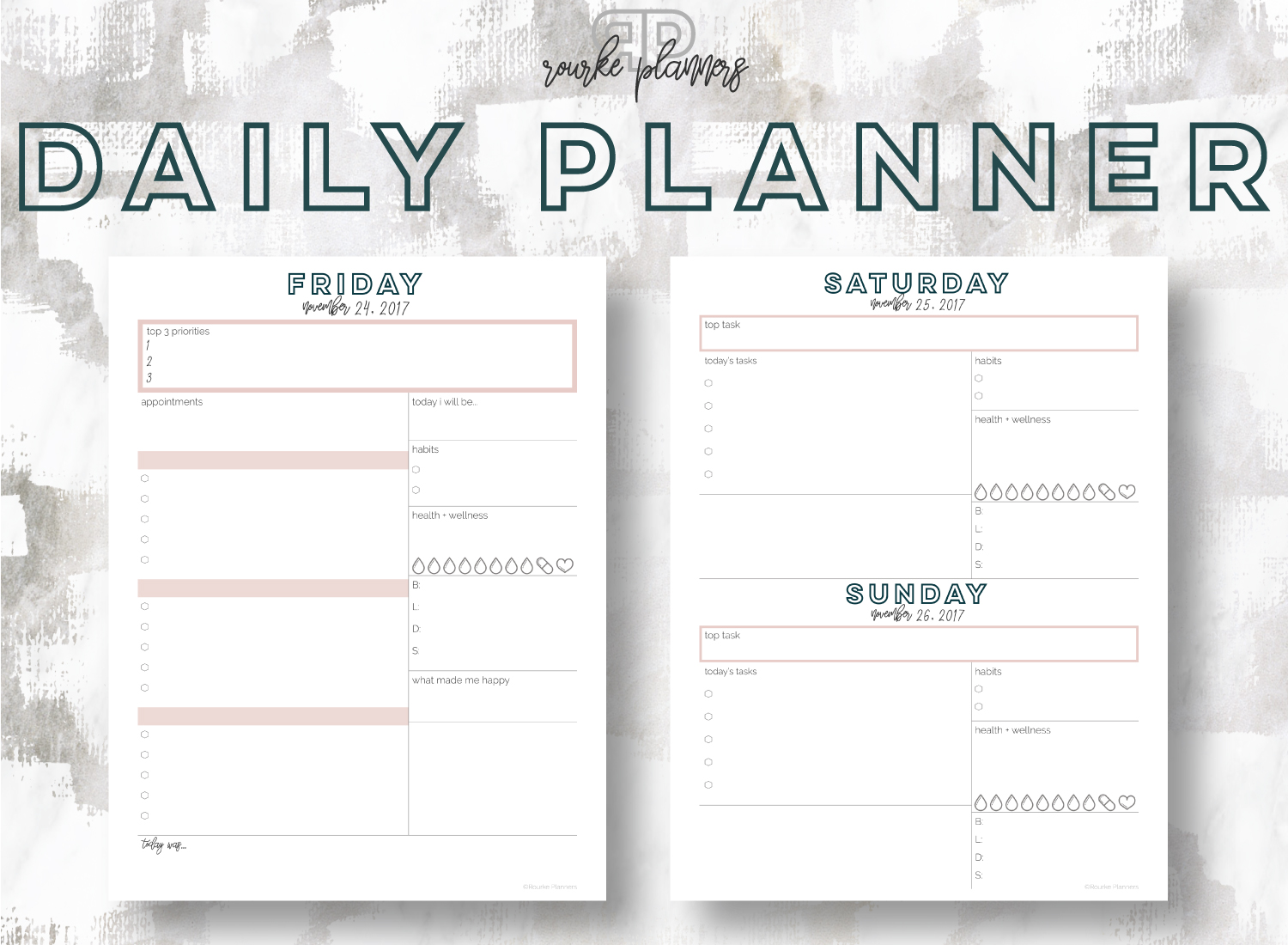 photograph relating to Daily Planners identified as The Each day Planner Rourke Planners