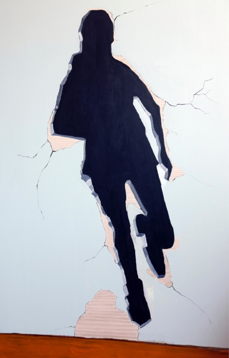 IVA KUZMANOVIC | Me Shaped Hole in the Wall | Oil on canvas 150 x 100cm | £3000