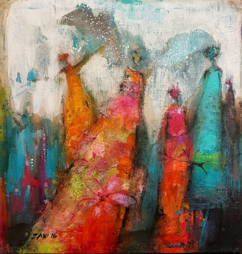 Love 11, Acrylic on canvas 40 x 40cm