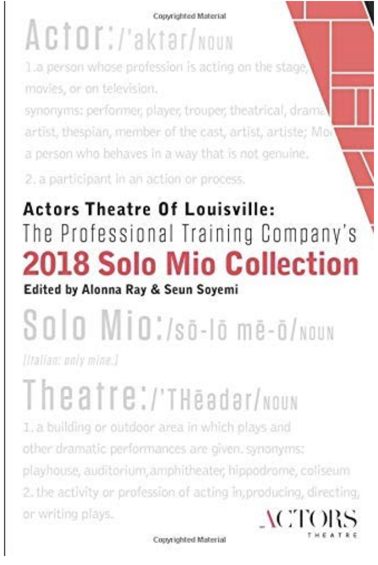 2018 Solo Mio Collection - As curator, editor, and contributor