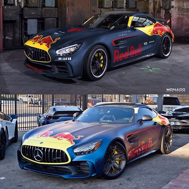 """[RENDERING TO REALITY] Great team-up with @rdbla for @salomondrin's Red Bull AMG GT-R 😎🔥🔥Been watching these guys for years, so it was a """"pinch me"""" kinda moment to be a part of one of their builds. Video to come soon to my YouTube channel showing the rendering process! #mercedes #amg #amggtr #supercars #mclaren #lamborghini"""