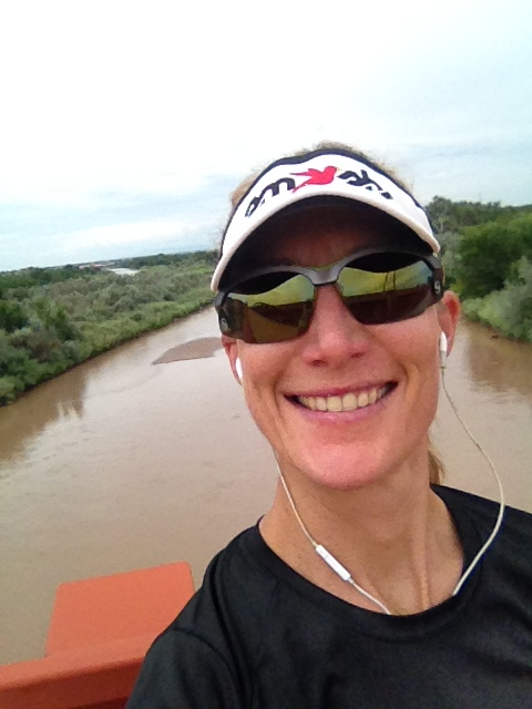 Running along the Rio Grande.