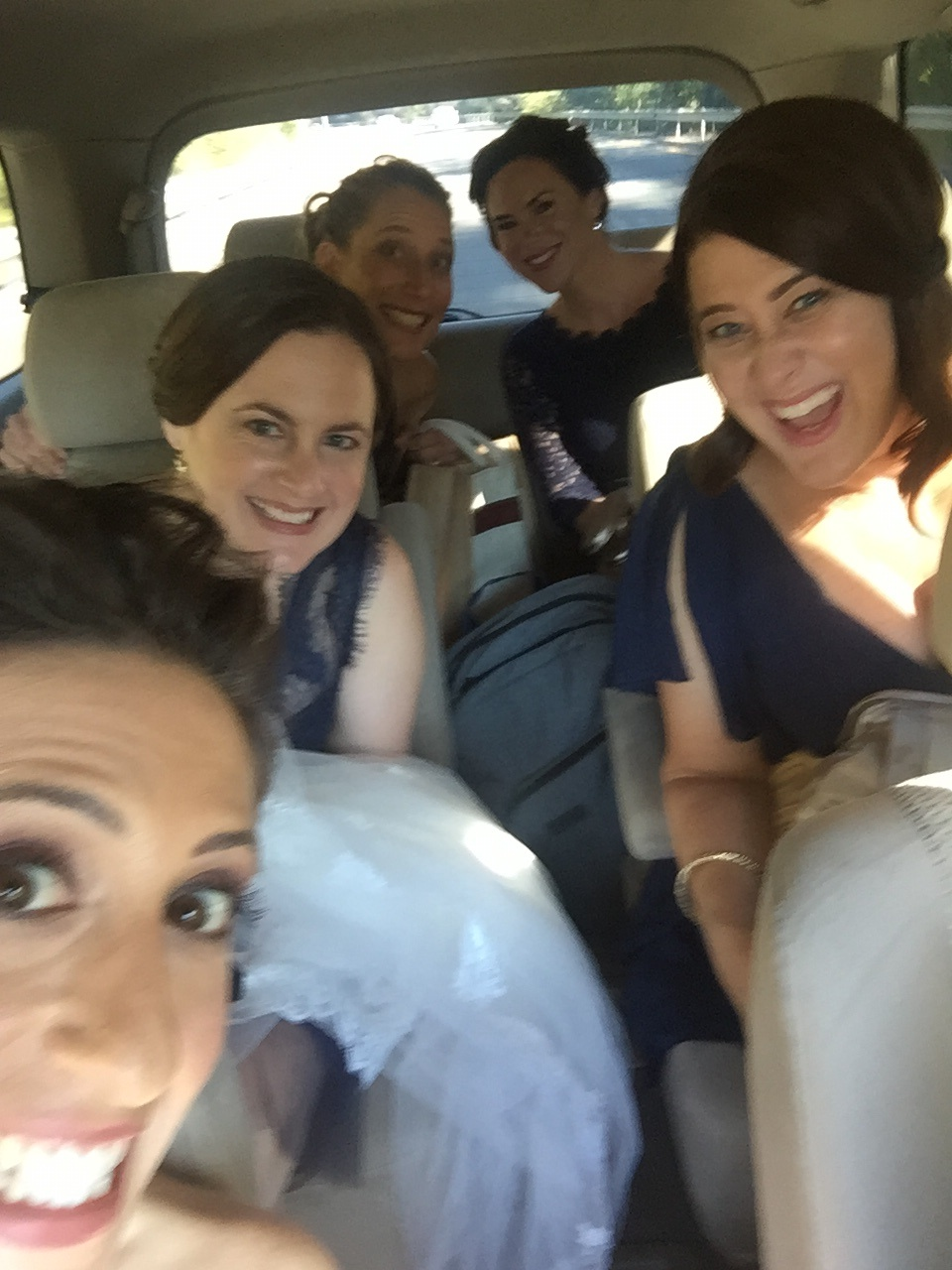 Bridal Uber ride, both efficient and classy.