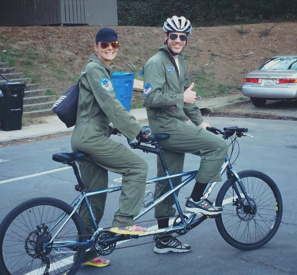 Sarah and Eric spinning around San Francisco.